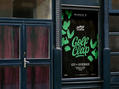 Golf Clap Poster club music poster flyer typography layout graphic design