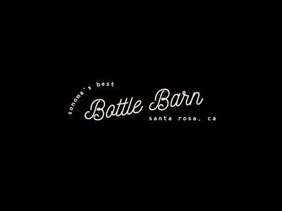 Bottle Barn Logo sonoma wine typography identity logo