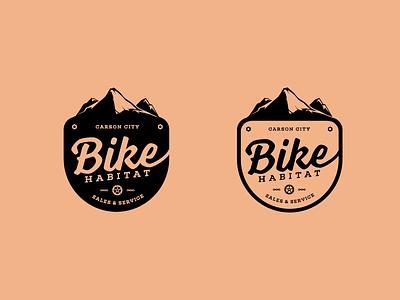 Bike Habitat Logo badge outdoor carson city bike shop mountain bike identity logo