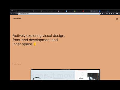 peach web design pastel typography portfolio minimal