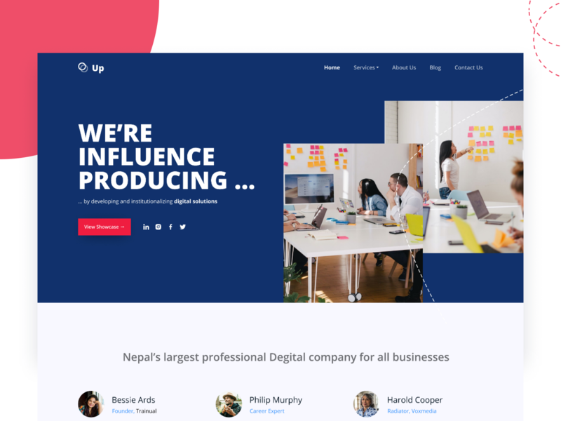 Corporate Agency homepage figma uiux designs website web ui flat design concept