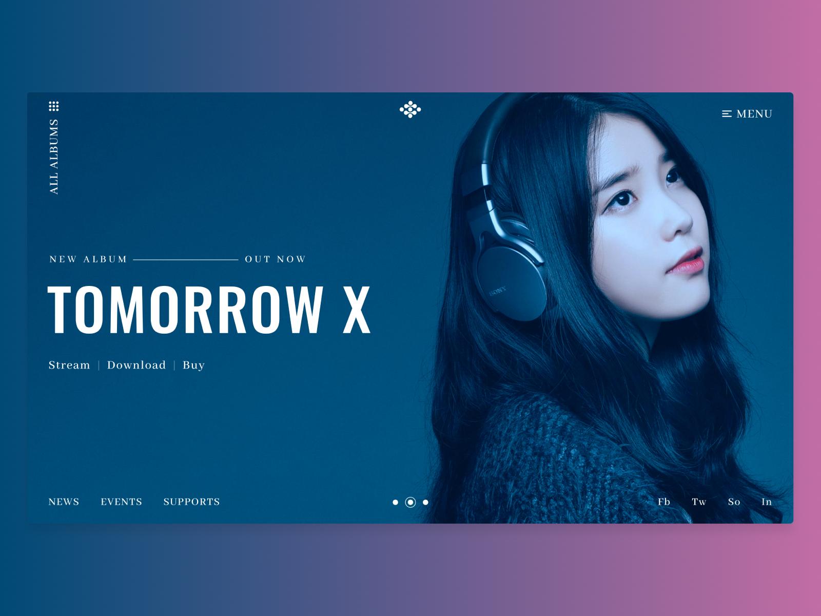 Modern music website concept 348819