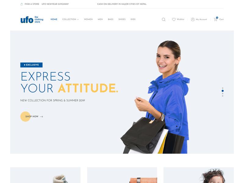 Homepage minimal design ui ux web website