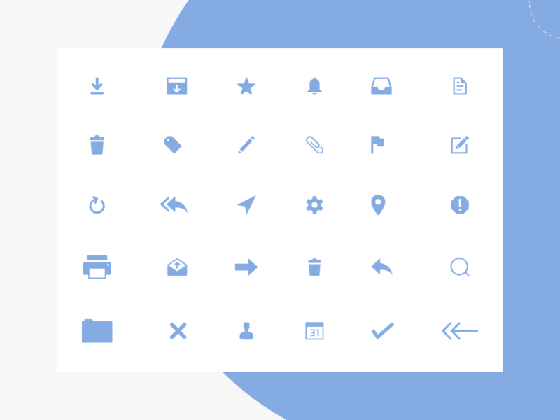 Gmail App Redesign (Icon Sets) google design gmail icons free icons icons mail googlegmail gmail web concept ui flat design