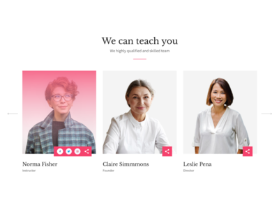 Simple Team Page (with Figma prototype) figma uiux web concept ui flat design teamwork our team profile people staff team