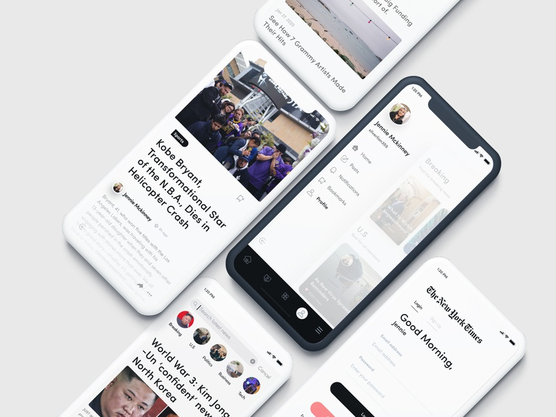 New York Times 📰 Redesign uiux concept design flatdesign mobile app newsfeed ui newspaper new york news ui kit new news