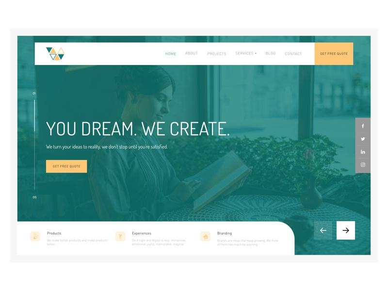 Header Concept figma homepage designs uiux website web ui flat concept design