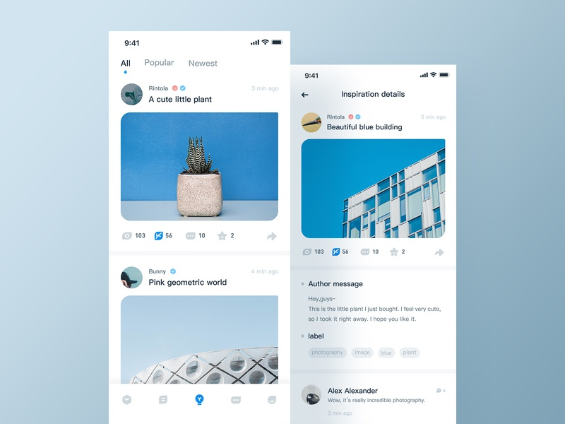 UI China - Inspiration concise ux social inspiration app design ui icon