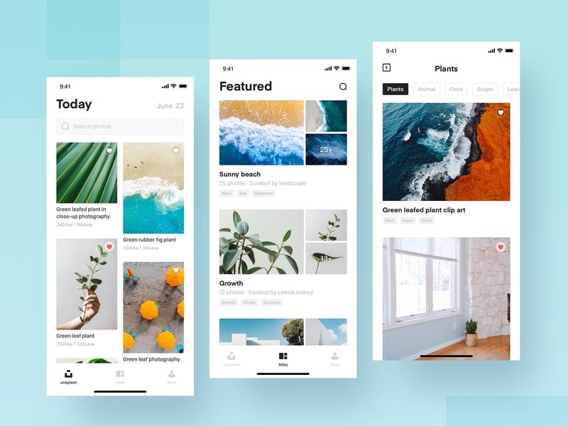 Unsplash.Com1 social art photography atlas ux ui design icon app