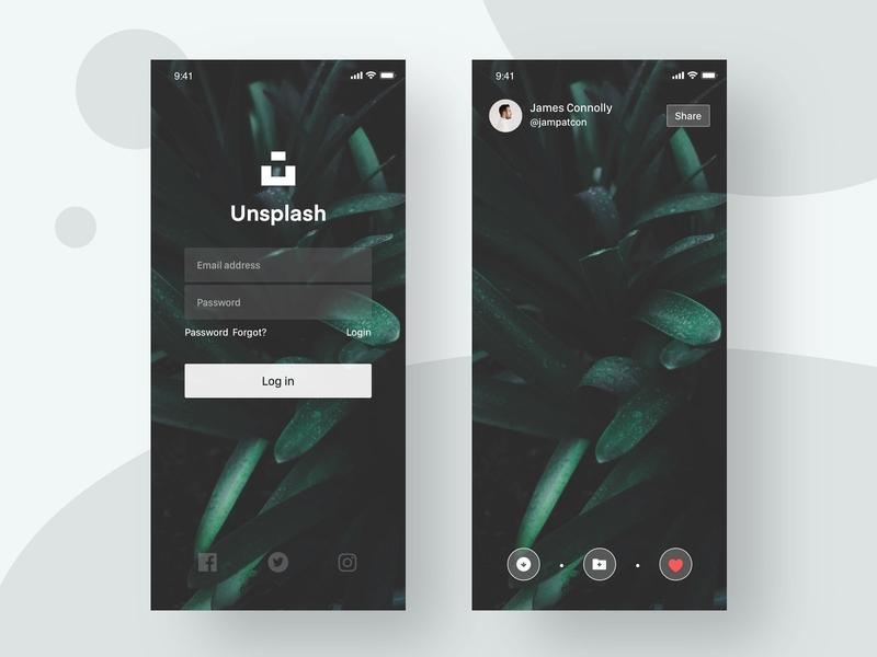 unsplash2 social shared inspiration photography atlas ux ui design icon app