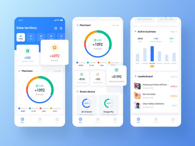 Data territory home chart ui design icon app