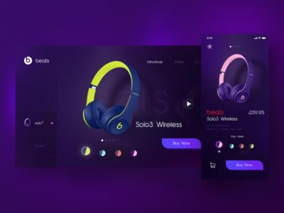 Beats Earphone Web&App design