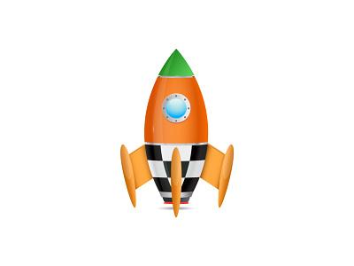 Rocket vector illustration rocketship flying fly rocket design adobe illustration adobe illustrator illustrator icon vector