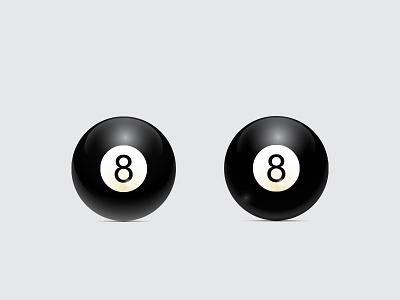 Black Billiard Ball icon illustration vector game ball black
