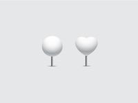 White pins