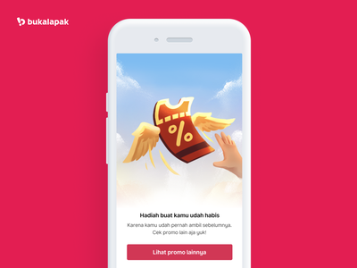 Empty State Bukalapak voucher red mobile app design mobile ui empty state