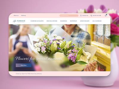 Flower shop & delivery website design branding layouts ui design ux