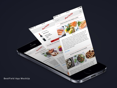Wine&Food App design