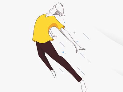 I will fly vector illustration flat