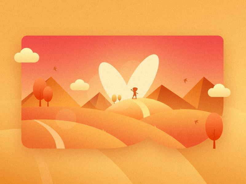 Sunrise illustration sunrise