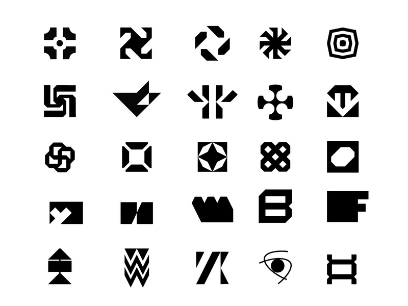 logofolio VOL.1 ux ui illustration logodesign logo blackandwhite futuristic modren branding minimal logo inspiration
