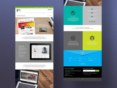 CDK Product Landing Page branding design ui design product landing page