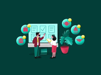 Event Planning & Management event planning character vector app design illustration ux ui web illustration