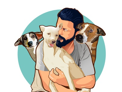 Dog lover dogs dog illustration ux ui vector character design illustration ux ui illustration