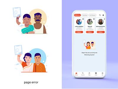 page error illustration illustration art illustraion illustrator characters 2d character flat icon design web character illustration ux ui illustration