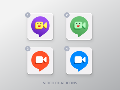 Video Chat Icons chat video call vector ux ui illustration icon icons