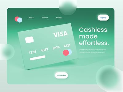 Credit card LP credit cards character branding ux ui creditcard blender 3d illustration design web illustration ux ui