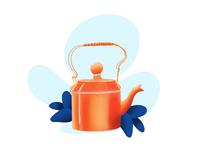 Tea kettle illustration