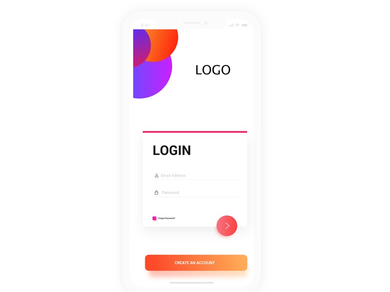 Login Screen app ui ux illustration web