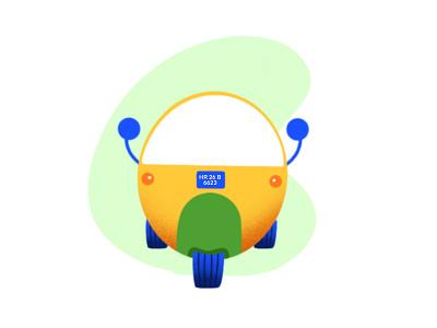 Auto online app 2d art vector flat design auto uber ola illustration ux ui icon illustration