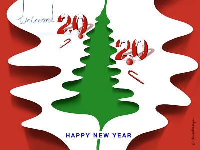 Happy New Year ui vector icon app character web illustration ux ui design illustration