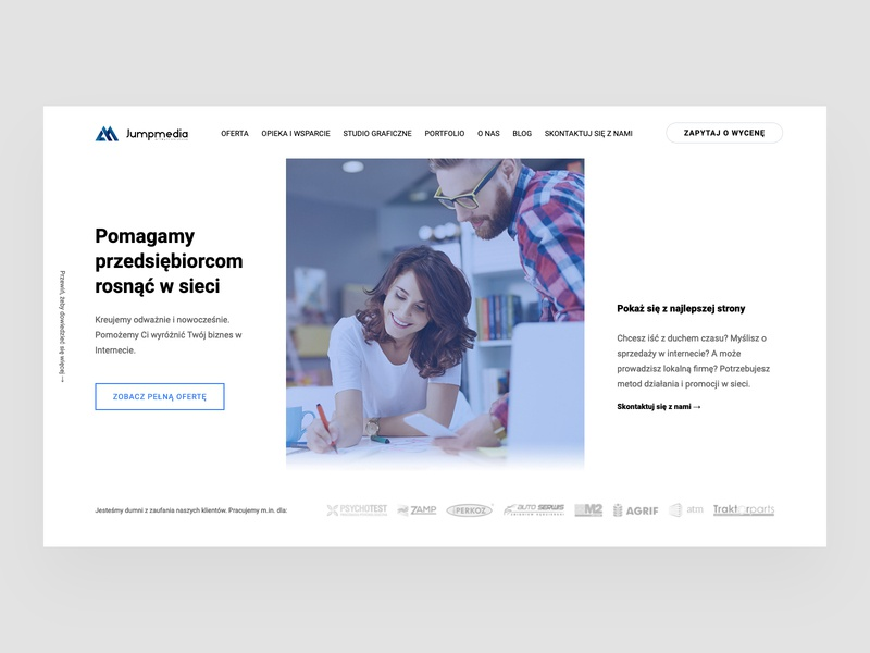 Digital Agency - hero section 👩‍💻 agency landing page webdesigner poland landingpage wordpress intro home hero agency theme layout concept design clean webdesign minimal website web ui