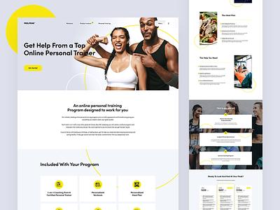Feel Peak - web design concept application webapp webdesigner redesign landingpage ux ui branding design clean webdesign minimal website web ui concept layout theme web design