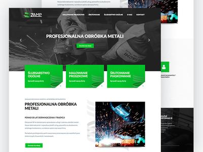 ZAMP company website locksmith welder minimalistic design ui simple page web design web website
