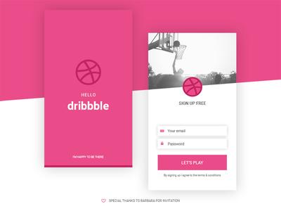 Hello Dribbble! mobile invite first shot dribbble hello debut