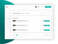 Dashboard concept for classifieds site