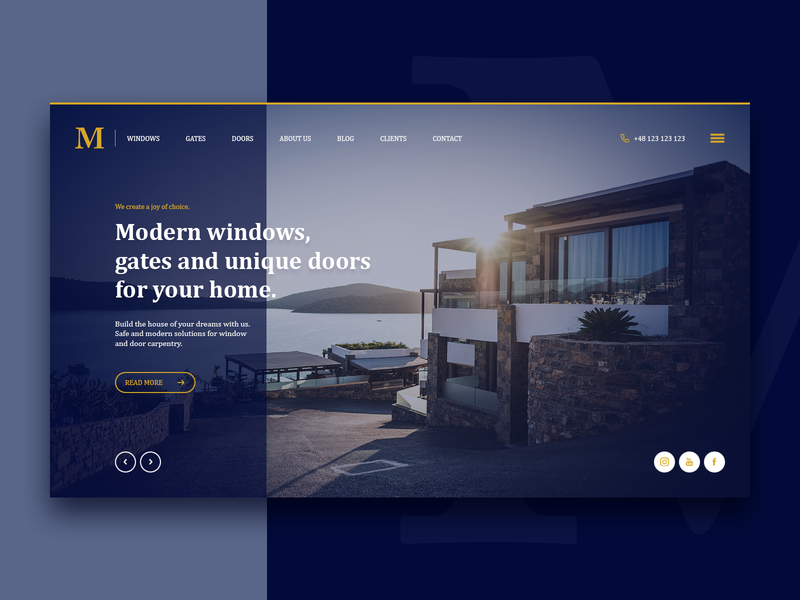 Window & Doors - welcome section welcome home hero redesign page landing header poland theme layout design concept clean web design webdesign ux minimal website web ui