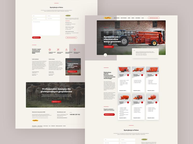 Seko Agriculture 🚜 frontend agriculture theme layout design concept clean webdesign minimal website web ui