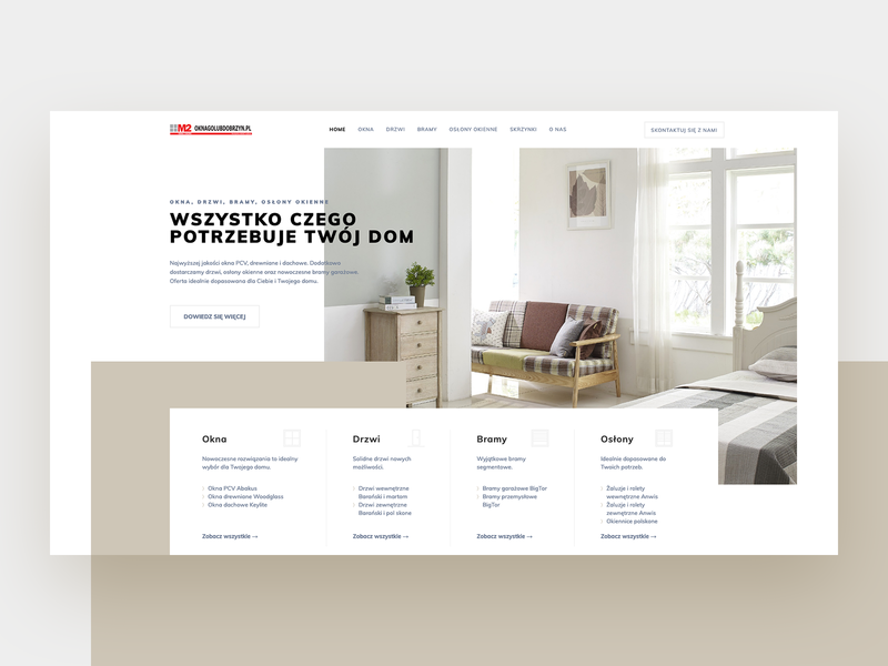 M2 Windows & Doors - welcome section 🏠 hero section welcome page welcome homepage flat hero theme layout design concept clean webdesign minimal website web ui