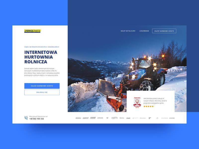B2B Agriculture store welcome section 🚜 hero header poland webdesigner ux web design clean webdesign minimal website web ui onepage landingpage design branding