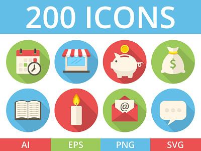 200 icons thumb