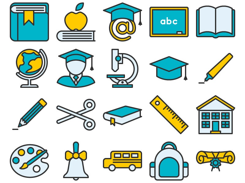 Education Icon Set by Nikolai Titov - Dribbble
