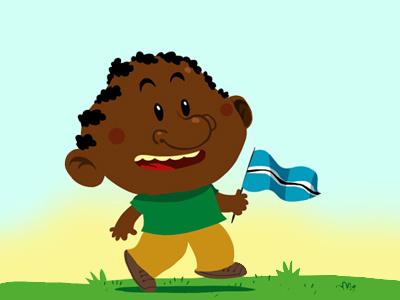 The Flag  illustration kids child africa