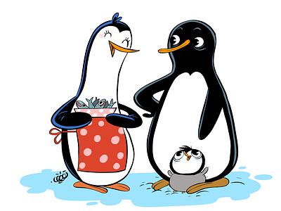 Little Penguins family