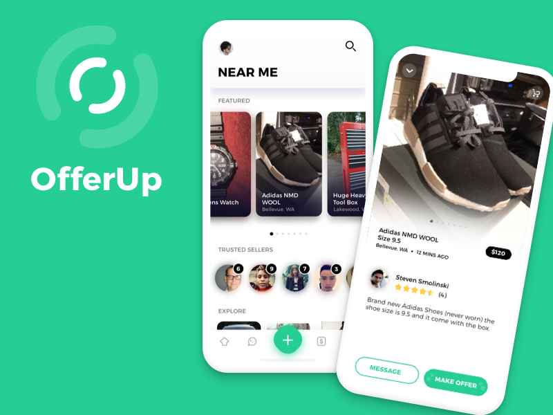 OfferUp remake iPhone X by Kori Handy on Dribbble