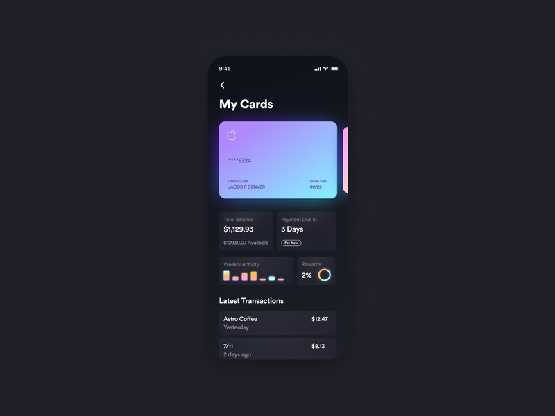 Banking App 2.0 ios mobile design mobile app mobile ui mobile banking dashboard dashboad credit cards financial banking app design product design branding visual ixd ux design ui visual design dark mode